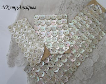 Antique buttons 1900 Mother of pearl