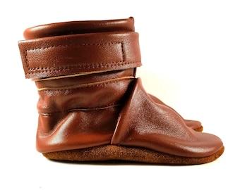 12 to 18 Month, Soft Sole, Reclaimed Leather, Baby Ankle Boots