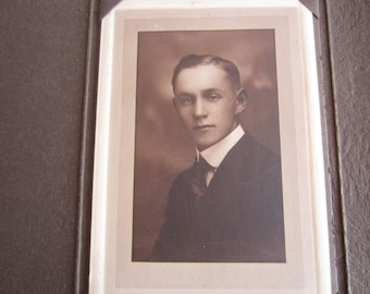 Antique Photograph of Young Man Early Twentieth Century Garner, Mass., Young Man Vintage Photo