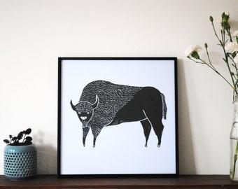 Digital Print 'Bison'
