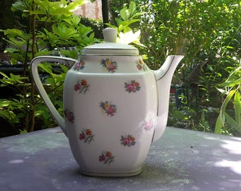 Large Vintage Porcelain Teapot Limoges France
