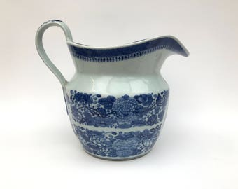 Early Nanking Export Large Jug/Creamer - Fitzhugh Pattern - Jiaqing Dynasty - C1810