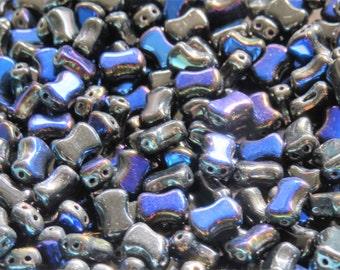 Jet Azuro  2-Hole CoCo Horizontal Beads (50)