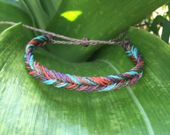Turquoise multi fishtail bracelet, autumn bracelet, green bracelet, costa verde bracelet, purple bracelet, costa rica jewelry, fall jewelry