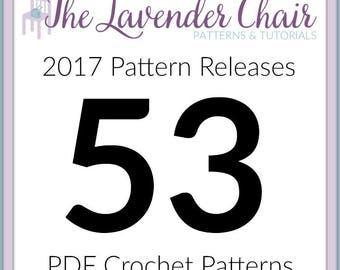 2017 Crochet Pattern Releases *53 PDF FILES* Instant Download