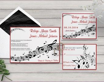 Sheet Music Wedding Collection, Musical Wedding Invitation, Music Notes Invitation, Musical Score, Music Theme Wedding, Instrumental Invite