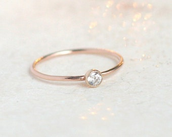 Rose gold ring Etsy