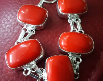 Red Coral Bracelet- 8 inches!