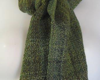Jungle - handwoven merino wool scarf