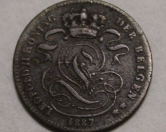 1887 1 Centime Belgium