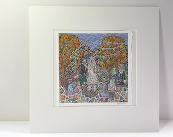 Holy Cat-rimony Limited Edition Hand Finished Mounted Print