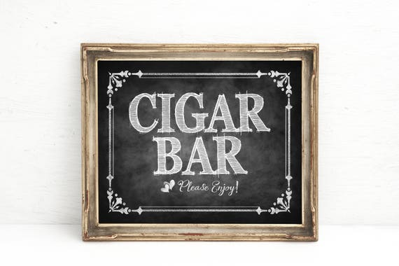 Chalkboard Wedding Sign, Party Decorations, Cigar Bar Sign, Wedding Cigar Bar, Reception Sign, Chalkboard Wedding Signs, Barn Wedding Sign