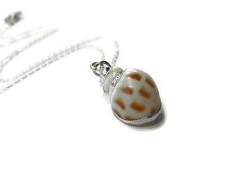Natural Shell Pendant - Natural Seashell Jewelry - Natural Shell Necklace - Sterling Silver Beach Necklace - Beach Wedding Necklace