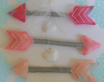Clearance- Pink Arrow Baby Mobile, Pink Arrow Mobile, Nursery Mobile, Crib Mobile, Girl Mobile, Girl Nursery Mobile