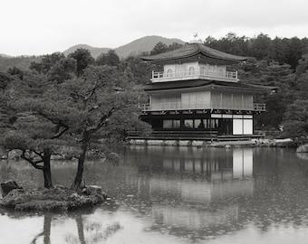 Kinkakuji Golden Pavilion Kyoto Japan digital download color print