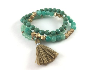Boho Bracelet Set - Bracelet Set - Boho Bracelet - Bohemian Bracelet - Boho Bracelets - Bracelet Stack - Beaded Bracelet - Stacking Bracelet
