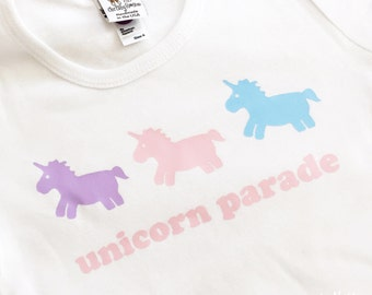 Unicorn Parade Top by Chic Baby Rose