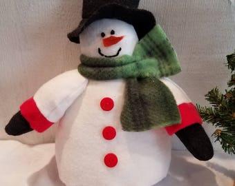 Snowman,Snowman Shelf Sitter,Country Snowman,Christmas Decor,Winter Decor,Holiday Decor