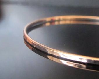 Rose Gold Hammered Bangle Bracelet, thin bangle bracelet, stacking bangle bracelet,  minimalist bridal gift, dainty stackable bangle, set