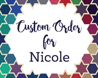 Custom Order for Nicole - Two Large Name Signs