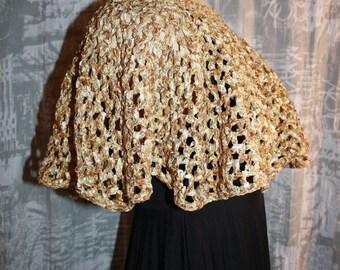 shoulder warmer or short poncho in Ribbon
