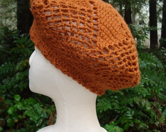 Pinwheel Beret - PA-151 - Crochet Pattern PDF