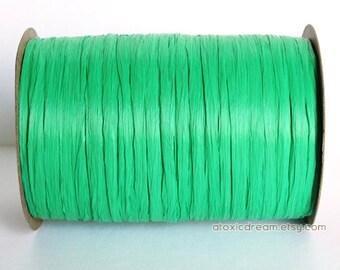 Sale Kelly Green Raffia Ribbon - 80 yards - 1/4 inch wide