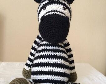 Fred Zebra plush Zebra crochet
