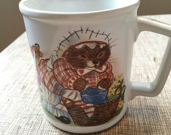 Squirrel Nutkin Vintage Mug Beatrix Potter