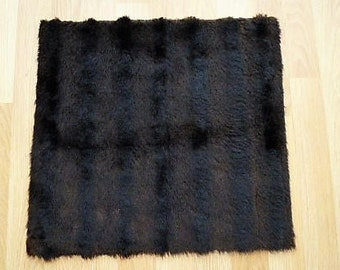 fur synthetic beautiful imitation mink vintage 50's, cut of 43 cm x 45 cm for small stitching designs and accessories