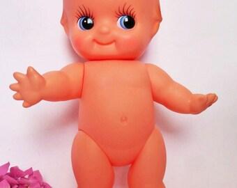 Vintage Kewpie Cupie Doll, Made in Japan, Vinyl Collectibe, Retro Kitschy Decor, Nursery, Baby Shower, Gift Idea