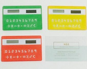 Solar Pocket Calculator - Business Card Sized