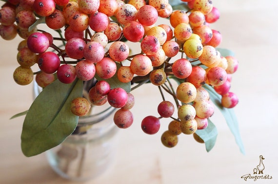 Red and Yellow Berries (FD0012-02) | artificial flower – flower ...
