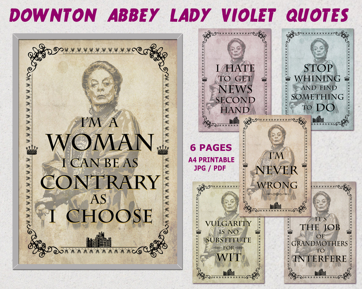 Downton abbey party violet crawley quotes downton abbey zoom monicamarmolfo Image collections