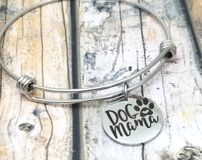 Dogmama Customizable Expandable Bangle Charm Bracelet, choose your charms, create your style, design your bracelet,