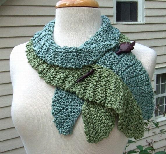 Knitting Pattern-Twirling Leaf Scarf knit flounce wavy