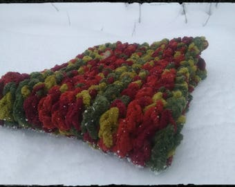 Harvest Cowl, knit cowl, outdoors, scarf