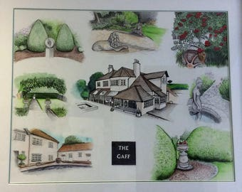 A3 house portrait (bespoke/commissioned)