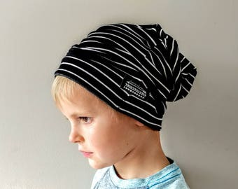 Baby slouchy beanie + Toddler boy slouch beanie + Gray hipster beanie + Slouchy knit hat + slouchy infant beanie