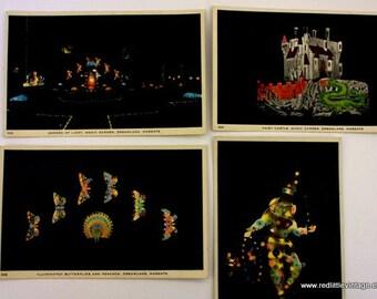 Vintage Postcards,  Kids Room Prints, Postcard Wall Art,  Magic Garden. Dreamland,  Colorful Postcards,