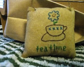 Tea Time Mini Pillow