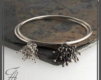 Round Band Bracelet, Silver Bangle, Bangle Bracelet, Silver Bracelet, Handmade Bracelet, Modern bracelet, Gift bracelet, Chunky Bangle
