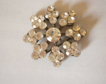40's  Rhinestone Cluster Brooch