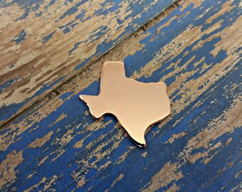 Copper Texas Stamping Blanks - PUNCHED - Qty 5