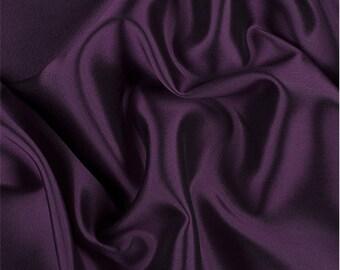 Magenta/Black Silk/Wool Gab, Fabric By The Yard