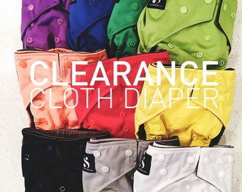 Clearance Cloth Diapers, Cloth Diaper Pattern, One Size, AIO, Bamboo, Nappies, Baby Diaper, Diaper Cover, Baby Diaper Cover, Reusable Diaper