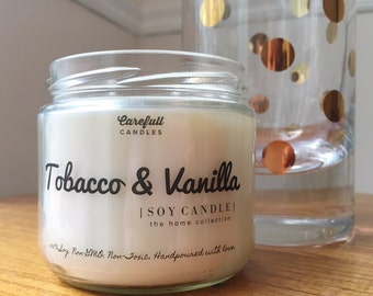 Tobacco & Vanilla | Soy Candle | Non-GMO | Non-Toxic | Handmade with love