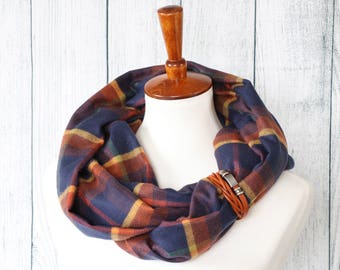 Infinity Scarf for Women - Fall Scarf - Womens Scarves - Sugar Creek Mittens - Navy Infinity Scarf - Winter Scarf - Soft & Silky Scarf