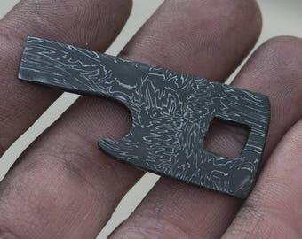 Mosaic Damascus Keychain Bottle Opener