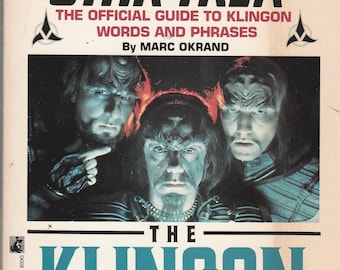 Vintage STAR TREK The Klingon Dictionary Words and Phrases Marc Okrand